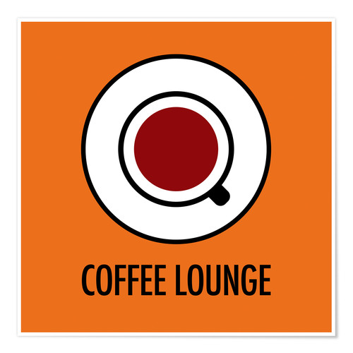 Premiumposter Coffee Lounge, orange