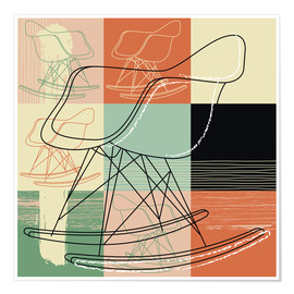 Premiumposter rocking chair