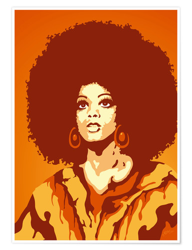 Premiumposter 70s orange soul mom