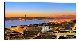 Aluminiumtavla  Panorama  of Lisbon Portugal - Fine Art Images