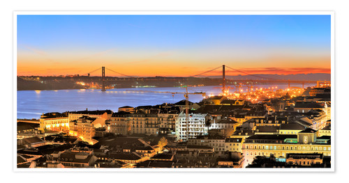 Premiumposter Panorama of Lisbon Portugal