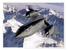 Poster  SR-71B Blackbird in Flight - Stocktrek Images