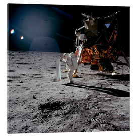 Akrylglastavla  Apollo 11 Moon Walk - Stocktrek Images