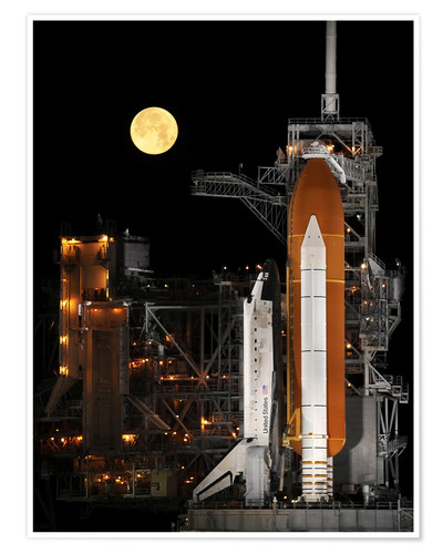 Premiumposter Space shuttle Discovery