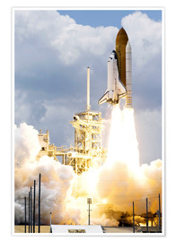 Premiumposter Space shuttle Atlantis launches