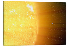 Canvastavla  The relative sizes of the Sun and the Earth