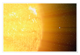 Premiumposter  The relative sizes of the Sun and the Earth