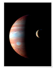 Premiumposter  Jupiter and its volcanic moon Lo