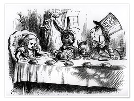 Premiumposter  The Mad Hatter's Tea Party - John Tenniel