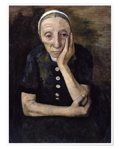 Premiumposter The old peasant woman