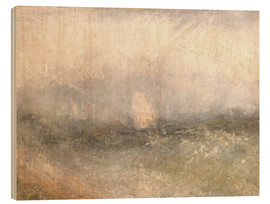 Trätavla  Off the Nore: Wind and Water - Joseph Mallord William Turner