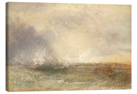 Canvastavla  Stormy Sea Breaking on a Shore - Joseph Mallord William Turner