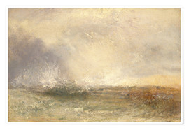 Premiumposter Stormy Sea Breaking on a Shore