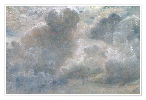 Premiumposter Study of cumulus clouds