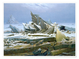Premiumposter  The Polar Sea - Caspar David Friedrich