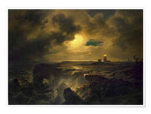 Premiumposter Helgoland in the moonlight