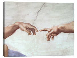Canvastavla  Adams skapelse (detail) - Michelangelo