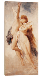 Trätavla  Cupid and Psyche - William Adolphe Bouguereau