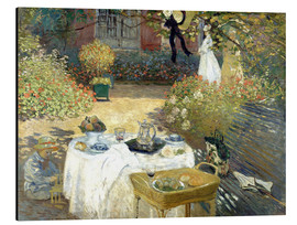 Aluminiumtavla  The Luncheon: Monet's garden at Argenteuil - Claude Monet