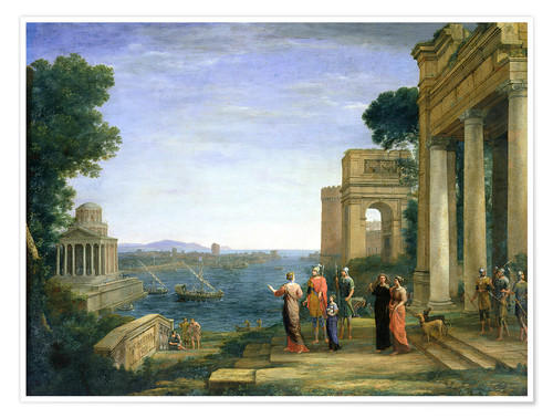 Premiumposter Aeneas and Dido in Carthage