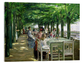 Akrylglastavla  The Terrace at the Restaurant Jacob in Nienstedten - Max Liebermann