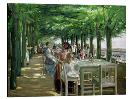 Aluminiumtavla  The Terrace at the Restaurant Jacob in Nienstedten - Max Liebermann