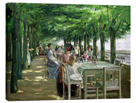 Canvastavla  The Terrace at the Restaurant Jacob in Nienstedten - Max Liebermann