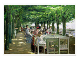 Premiumposter  The Terrace at the Restaurant Jacob in Nienstedten - Max Liebermann