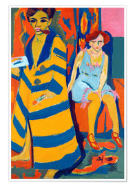 Premiumposter  Ernst Ludwig Kirchner with a Model - Ernst Ludwig Kirchner
