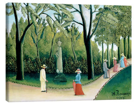 Canvastavla  The Monument to Chopin in the Luxembourg Gardens - Henri Rousseau