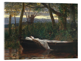 Akrylglastavla  The Lady of Shalott - Walter Crane