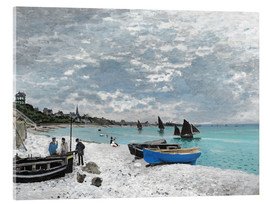 Akrylglastavla  The Beach at Sainte-Adresse - Claude Monet