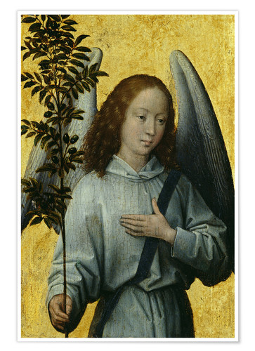 Premiumposter Angel Holding an Olive Branch