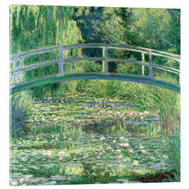 Akrylglastavla  White waterlilies - Claude Monet