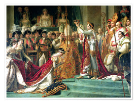 Premiumposter The Consecration of the Emperor Napoleon and the Coronation of the Empress Jose (detail)