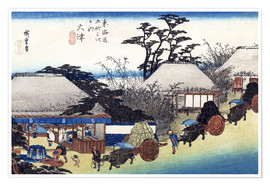Premiumposter  The Teahouse at the Spring - Utagawa Hiroshige