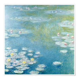 Poster  Nympheas at Giverny - Claude Monet