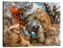Canvastavla  The Tiger Hunt - Peter Paul Rubens