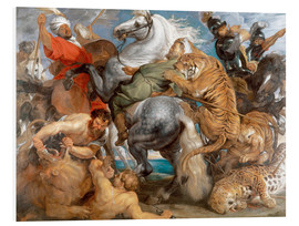 PVC-tavla  The Tiger Hunt - Peter Paul Rubens