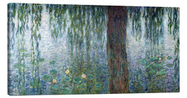 Canvastavla  Waterlilies: Morning with Weeping Willows (detail) - Claude Monet