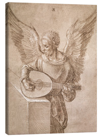 Canvastavla  Angel playing a lute - Albrecht Dürer