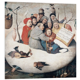 PVC-tavla  The Concert in the Egg - Hieronymus Bosch