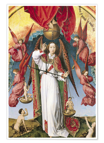 Premiumposter Last Judgment, St. Michael, Weighing Souls