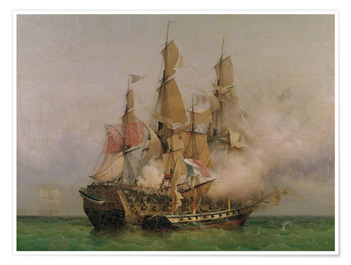 Premiumposter The Taking of the 'Kent' by Robert Surcouf