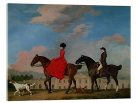 Akrylglastavla  John and Sophia Musters riding at Colwick Hall - George Stubbs