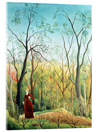 Akrylglastavla  The walk in the forest - Henri Rousseau