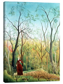 Canvastavla  The walk in the forest - Henri Rousseau