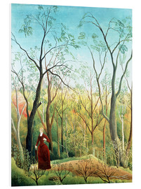PVC-tavla  The Walk in the Forest - Henri Rousseau