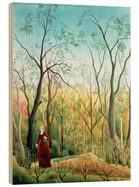 Trätavla  The walk in the forest - Henri Rousseau