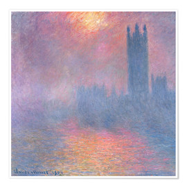 Premiumposter  The Houses of Parliament - Claude Monet